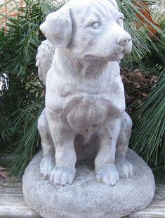 Solid concrete Rottweiler Angel dog statue by springhillstudio, $39.95