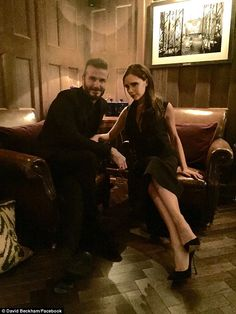 Date night: David Beckham was accompanied by his wife on Sunday night, as he hosted the la...