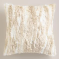 Our cream-colored, faux fur pillow lends a look of luxury to your space at an irresistibly affordable price. Chic stripes and soft backing create a neutral tone that effortlessly coordinates with existing decor. Fur Pillow, Fur Throw Pillows, Faux Fur Throw, Sofa Pillows, Accent Pillows, Pottery Barn Look, Bedroom Design Inspiration, Applique Pillows, Affordable Home Decor