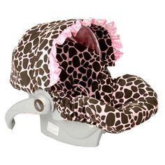 Ginny Giraffe with Ruffle Infant Car Seat Cover BBMISC001GG