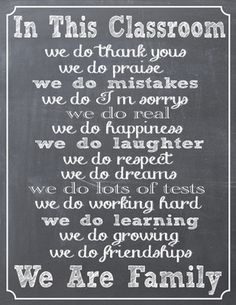 Chalkboard Classroom Creed from Chic Classroom Style on TeachersNotebook.com -  (1 page)  - This beuatiful 8x10 classroom creed sign is a great addition to any classroom. It is a great way to give your classroom that cozy family feel.