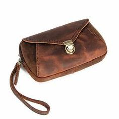 Classy Brown Leather Mens Work Clutch Bag Wirstlet Clutch Mobile Phone Bag For Men Wristlet Wallet, Card Wallet, Men Clutch Bag, Small Shoulder Bag, Long Wallet, Brown Leather, Classy, Phone, Bags