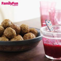 Turkey-and-Stuffing Bites with Cranberry Dipping Sauce: The best flavors of Turkey Day are rolled together in these super-moist meatballs. Because of their soft consistency, they should be served with forks rather than toothpicks.