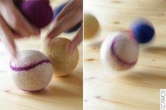 pilotes de feltre/pelotas de fieltro/felt balls