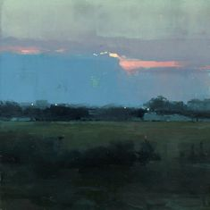 Jeremy Mann. Atmosphere 2, Vicino a Taranto - 6 x 6 inches - Oil on Panel - 6/2014