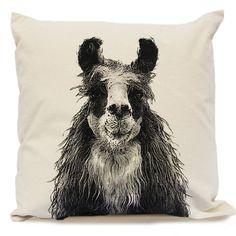 Llama Head Decorative Pillow Large