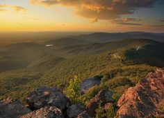 Virginia's Shenandoah National Park along on the Appalachian Trail