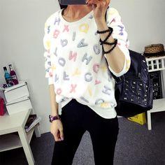 Cute Print Hoodies Long Sleeve Sweatshirts