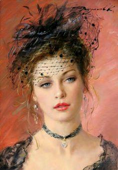 Art painting classic impressionism New Ideas Classic Paintings, Beautiful Paintings, Images D'art, L'art Du Portrait, Art Vintage, Woman Drawing, Fine Art, Woman Painting, Painting Art
