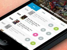 Film - Mobile interface UI UX