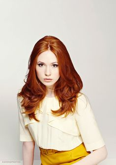 Whatever Karen Gillian's hair color is is always my favorite. (Although now it's shaved....)