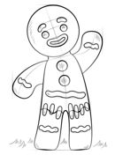 How to draw a gingerbread man Drawing tutorial