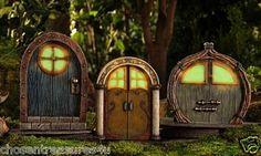 Glow Fairy Door Glows in Dark Village Statue Green 7 in Garden Decor Gnome | eBay (chosentreasures44u)