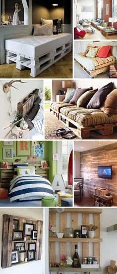 How cute! What a great way to re-purpose and recycle pallets. Turn pallets into patio furniture, headboards for bed, tables, shelves and loads more!