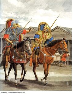Roman auxiliary cavalrymen, 1st century,CE