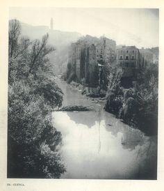 """Desembocadura del Río Huécar en el Río Júcar Cuenca Fotografía del libro """"Nueva apología turística de España"""", 1957 #Cuenca"""