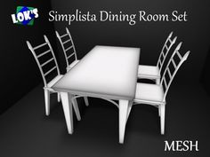 *Lok's* Simplista Mesh Dining Room Table & Chairs Set, Now in White
