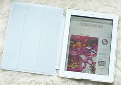 The Black Pearl Blog - UK beauty, fashion and lifestyle blog: White Leather iPad Cover + Gold Studs = Perfection
