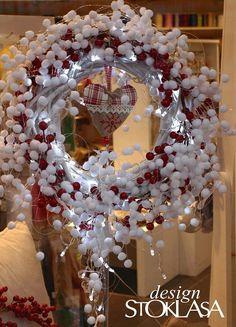 4995 - STOKLASA Haberdashery Ornament Wreath, Ornaments, Haberdashery, Christmas Wreaths, Fabrics, Holiday Decor, Inspiration, Home Decor, Tejidos