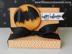 It's Written on the Wall: Halloween Treat Box-Snickers Candy Bars and More-So Much Fun!