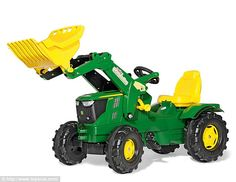 The miniature mobile costs £100 and is from agricultural company, John Deere, which holds ...