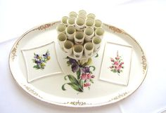 Dresden China Cigarette Holder Saxony Germany Mid by AllieEtCie