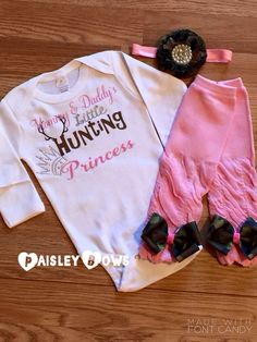 bba07557034c Mommy and Daddy s hunting Princess by PaisleyBows on Etsy