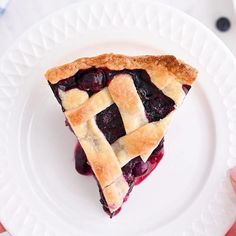 Homemade Blueberry Pie is a classic recipe that everyone loves! Made with an easy pie crust, blueberries and only four other simple ingredients.