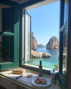 """""""I took this photo while having breakfast with my family last summer in Sicily. We will go back again, I promised my kids."""" By Debi Mazar - Places To Travel, Places To Visit, Station Balnéaire, European Summer, Italian Summer, French Summer, Destination Voyage, Window View, Travel Aesthetic"""