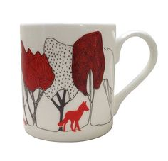 in the woods with foxes china cup by orwell and goode | notonthehighstreet.com