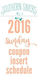 Here's a list of all of the Sunday coupon inserts that will be coming out in the papers in 2016!