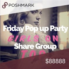 🙆Friday Share Group Party Pop Up on Tops! •Sign up before noon PST.  •Share Today ONLY from 12-2 PST during party hours. Begin sharing at Noon PST. Finish by 2 PST.  •Share 10 Tops from each closet to followers/feed NOT to party. if they have less, repeat til 10 shares total •Finish shares/sign out by 2 PST                •Please read all rules and ask questions before signing up. You are committing to sharing 10 dresses/skirts from each closet during the 12-2 party hours ONLY. Join us to…
