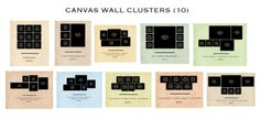 canvas clusture with size on wall - Google Search