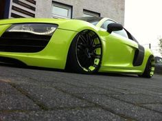 R8: color accepted, rims too, but I can't understand who likes such lowered cars.