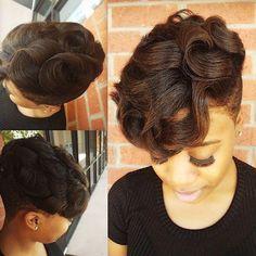 medium short haircut for black women