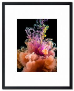 Gary Sheppard - Billowing colour Inks in liquid series. This image is a continuation of Gary's inks and dyes in water project. Abstract Photography, 2 Colours, Digital Art, Artist, Projects, Painting, Image, Color, Log Projects