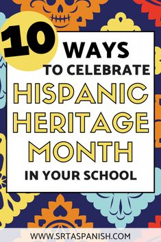 Looking for activities for Hispanic Heritage Month for your school? This post includes a variety of Hispanic History Month, Hispanic Culture, Hispanic Heritage Month, Hispanic Art, Learn Spanish Online, How To Speak Spanish, Spanish 1, Famous Hispanics, Spanish Heritage