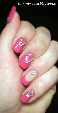 Pink and rhinestones