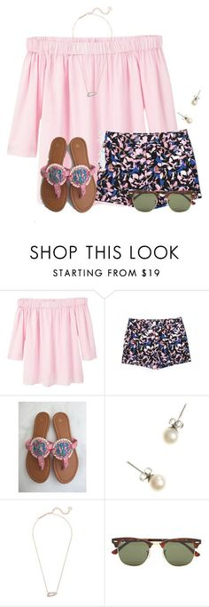 Getting ready for Valentines with some pink:) by flroasburn on Polyvore featuring MANGO, J.Crew, Kendra Scott and Ray-Ban