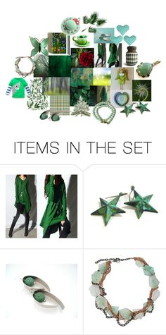 """""""Green Collection"""" by crystalglowdesign ❤ liked on Polyvore featuring art"""