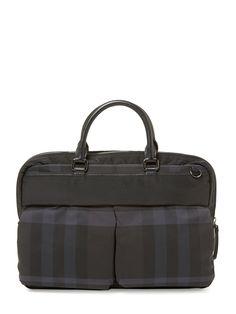 be267e13e0b ... new product 150d8 6ba13 Newburg Beat Check Nylon Jacquard Small  Briefcase ...