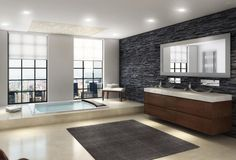 bathroom-stone-cleaner-black-vanity-mix-white-marble-sink-glass-double-door-on-shower-room-beautiful-rectangular-whirlpool-tubs-uneven-stone-wall-tile-.jpg (1330×904)