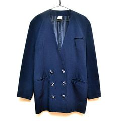 Classic Polka Dots Button Jacket  Blazer  Made in France