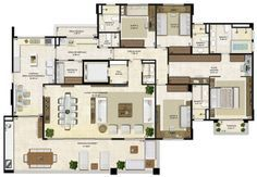 Circle House, 5 Bedroom House Plans, Ile Saint Louis, Apartment Floor Plans, House Map, Architecture Plan, Pent House, My Dream Home, Home Projects