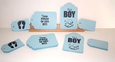 Baby Boy Gift Tags  Shabby Chic  56 Total Tags  by Booksonblocks, $7.95