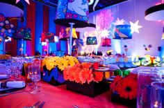 60s flower centerpieces | Colorful! 60s Inspired Floral Centerpieces | Industry Ideas: Centerpi ...