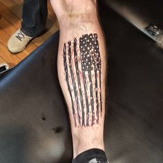 Patriotische Tattoos, Army Tattoos, Tattoos Arm Mann, Military Tattoos, Men Arm Tattoos, Calf Tattoos, Warrior Tattoos, Tatoos, American Flag Forearm Tattoo