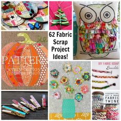 Got fabric scraps? Need some ideas? Check out my round up of 62 projects and inspirations to use your fabric scraps!