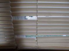 Fix broken mini blinds.