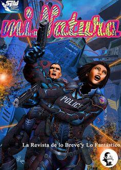 Revista Digital miNatura nº 121: Dossier Policiaco en la Ciencia Ficción. Portada: Defensores de Ikarus por Guillermo Romano (Argentina)